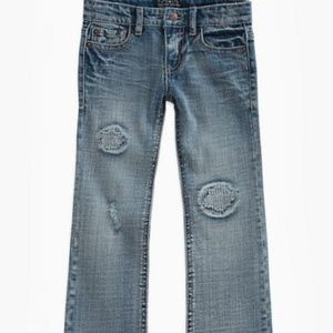 Lucky Brand Girl Harper Boot Cut Patch Denim Jeans
